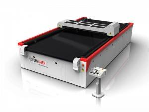 High Speed ​​vistimentu Fabric Laser Cutting Machine