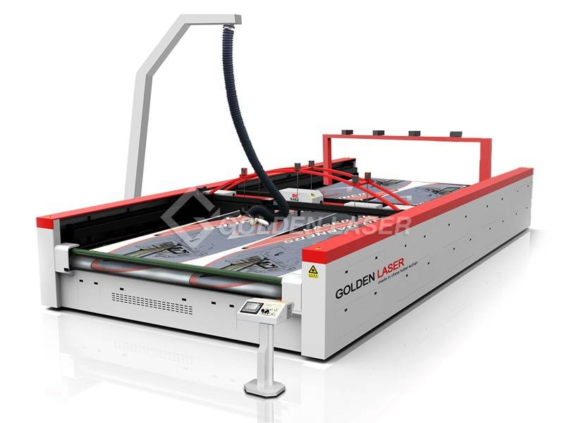 Wide Format Laser Cutting Machine for Flags,Banners,Soft Signage CJGV-320400LD