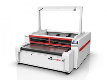 Independent Dual Head lëkure Laser Cutting Machine për KEPUCE