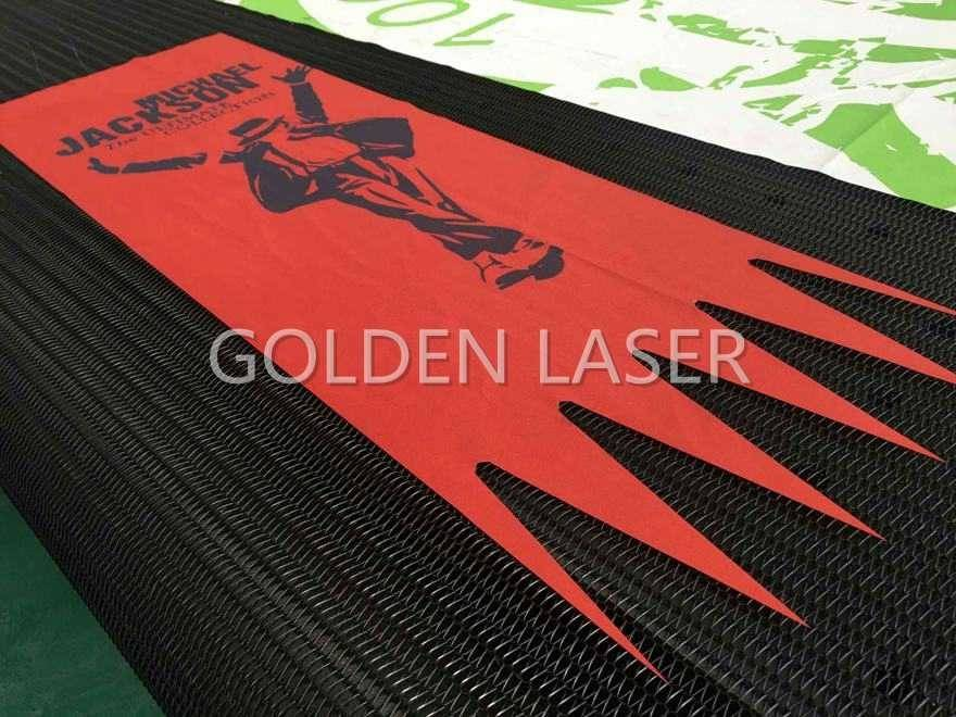 laser cutting banner flag