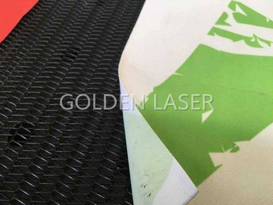 laser cutting flag banner