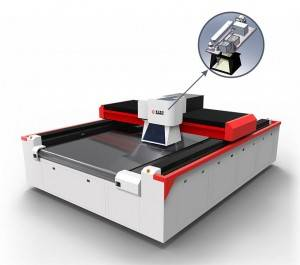 Pelletterie Galvo Laser Acquaforte Machine Cutting di Industria Shoe
